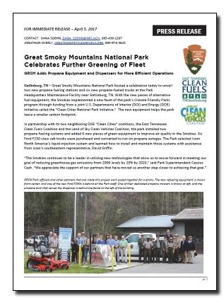 GRSM Press Release - 4-5-17